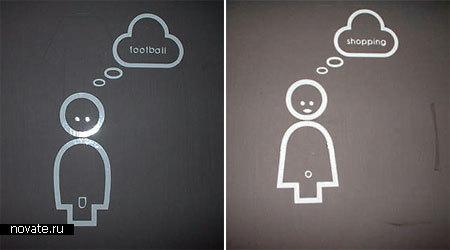 Туалетные  вывески из Эдинбурга, Шотландия.