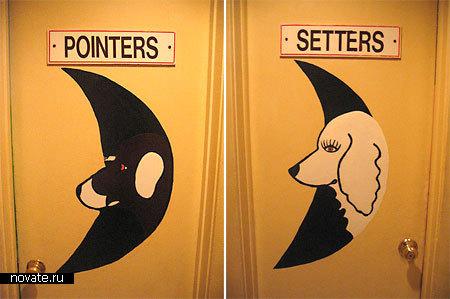 Туалет на  выставке собак, Великобритания.