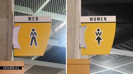 Туалетные  таблички из Индианаполиса, США