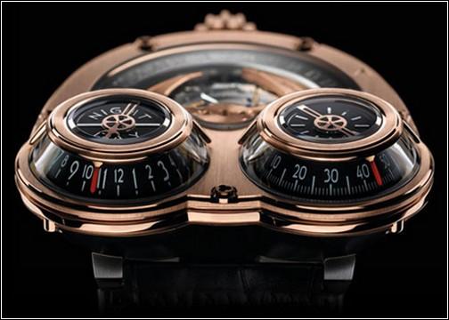 Часы Horological Machine 3 выполнены в духе стимпанка.