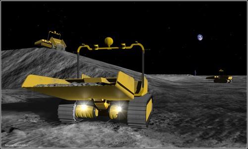 Лунный бульдозер от Astrobotic Technology.