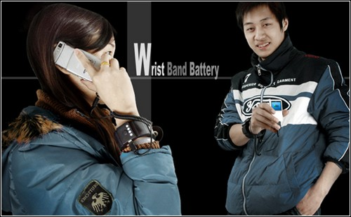 Напульсник-зарядка Wrist Band Portable Battery.