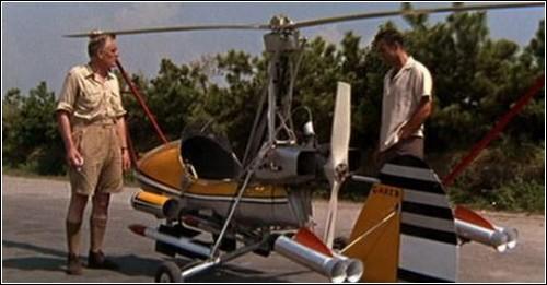 Миниатюрный вертолет Джеймса Бонда.