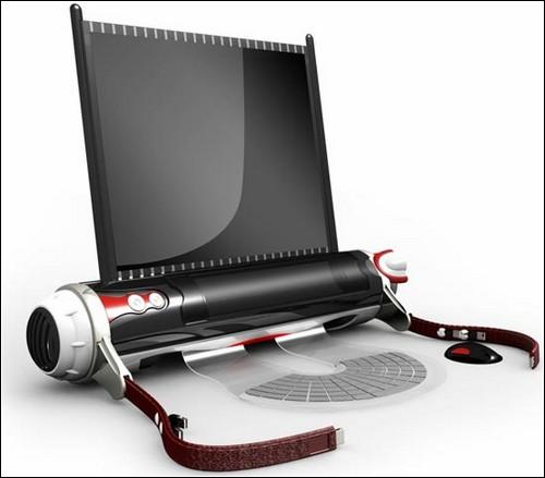 Лэптоп-свиток от Хао Хуа в полностью развернутом виде.
