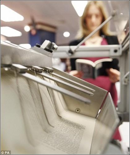 Машина для моментальной печати книг.