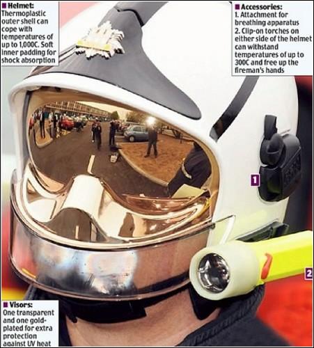Французский шлем для пожарных.
