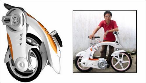 Вьетнамский велосипед с электродвигателем.