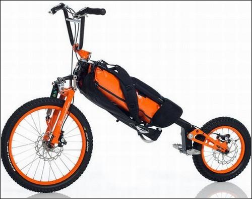 Велосипед-рюкзак.
