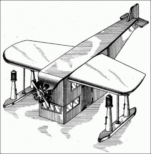 Концепт заправочной станции в виде самолета.