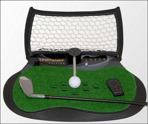 Устройство для виртуальной игры в гольф Golf Launchpad Simulator.