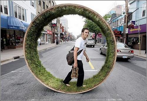 Травяное колесо от канадских дизайнеров.