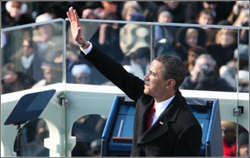 Во время инаугурации Барак Обама был защищен пуленепробиваемым стеклом.