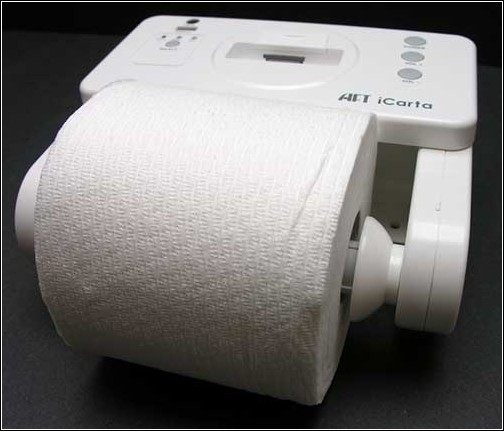 iCarta+  Toilet Roll Holder – никуда без айпода!