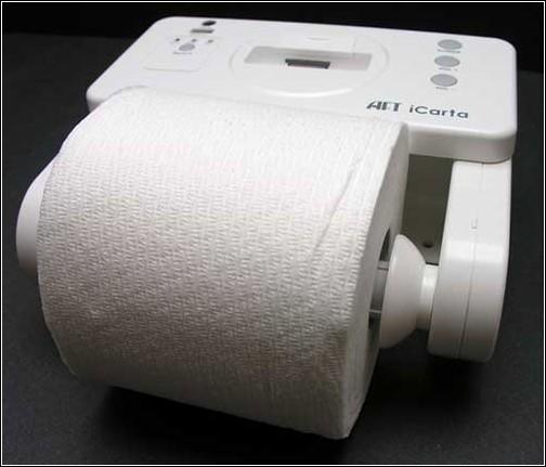 iCarta+  Toilet Roll Holder – никуда без айпода!