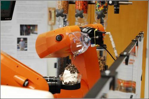 Робот-мороженщик из Огайо.
