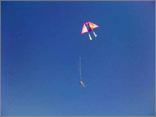 Аэрофотосъемка с использованием воздушного змея.