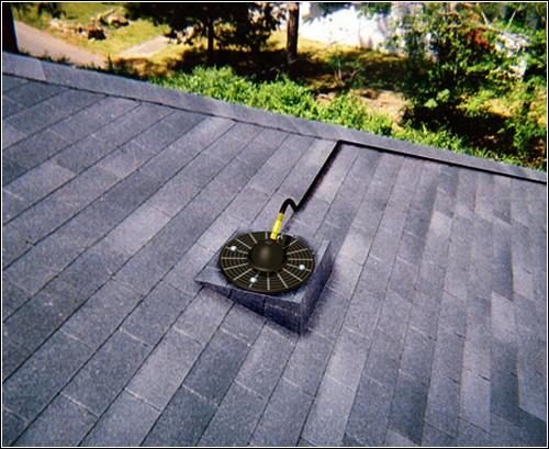 Лазерная антенна на крыше дома.