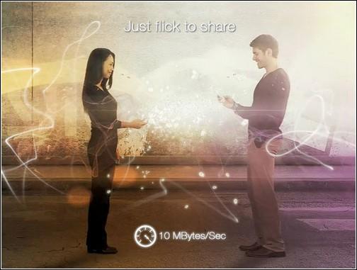 Leyio Personal Share Device - обмен данными по мановению руки.