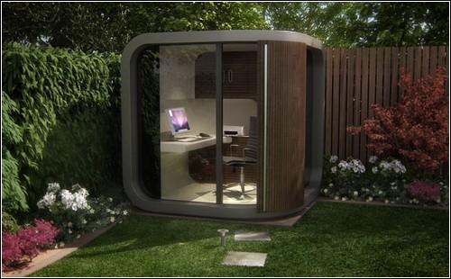 Office POD – выносной рабочий кабинет для установки в саду.