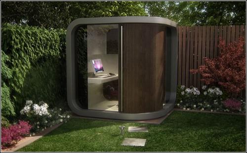 Office POD – выносной рабочий кабaинет для установки в саду.