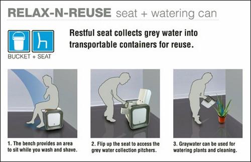 Сиденье Relax-n-Reuse.