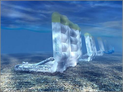 Набор энергетических волновых установок Oyster.