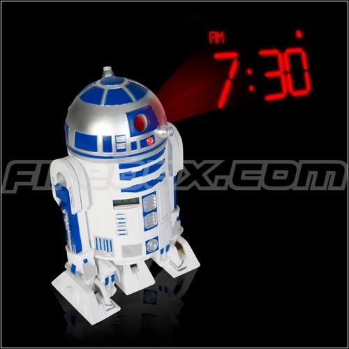 Проекционный андроид-будильник.