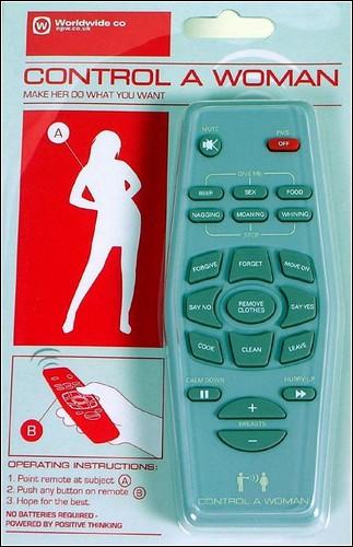 Пульт дистанционного управления женщиной.