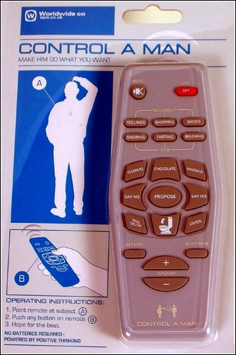 Пульт дистанционного управления мужчиной.