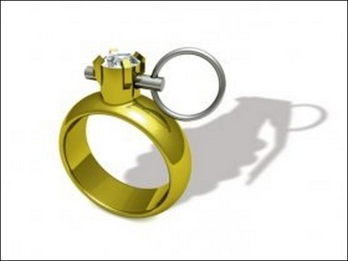 Кольцо-граната - Вооружен и украшен.
