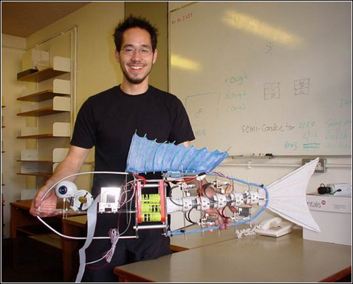 Рыба-робот на стадии разработки.