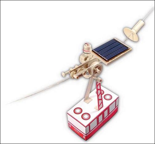 Мини-фуникулёр на солнечных батареях.
