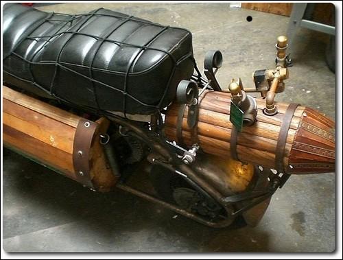 Электропаровой мотоцикл от Тома Сипа.