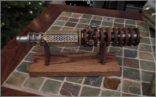 Световой меч в стиле стимпанк.