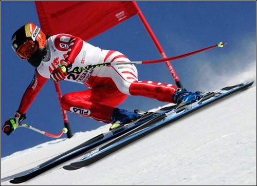 Двойные лыжи от Чарли Пайота.