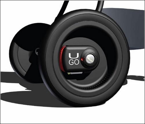 Безопасность обеспечивается за счет использования электронного блока, устанавливаемого на задние колеса.