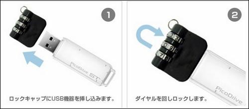 Кодовый механический замок для USB-накопителя - принцип действия.