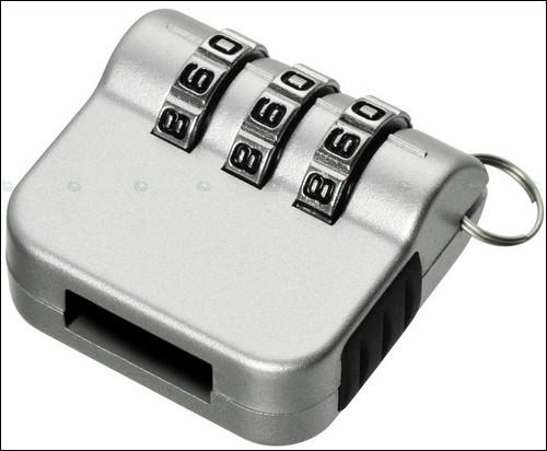 Кодовый механический замок для USB-накопителя - серый.