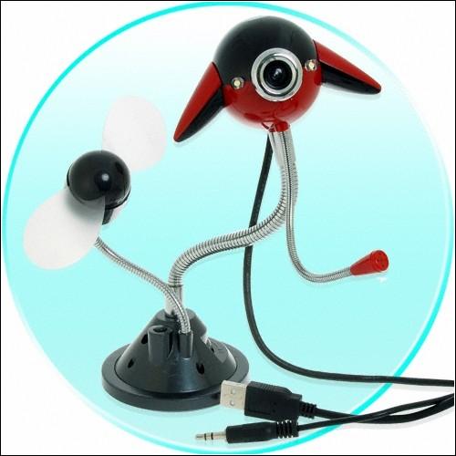 Веб-камера НЛО с вентилятором.