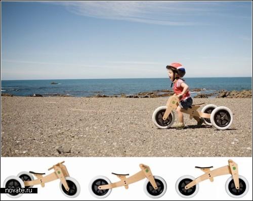 *Беговой* велосипед Wishbone для маленьких гонщиков