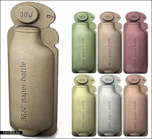 `Зеленая` бутылка из бумаги