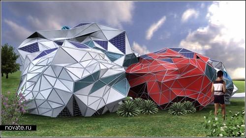 Жилищная система будущего: переносные дома-*палатки* ADEX  housing