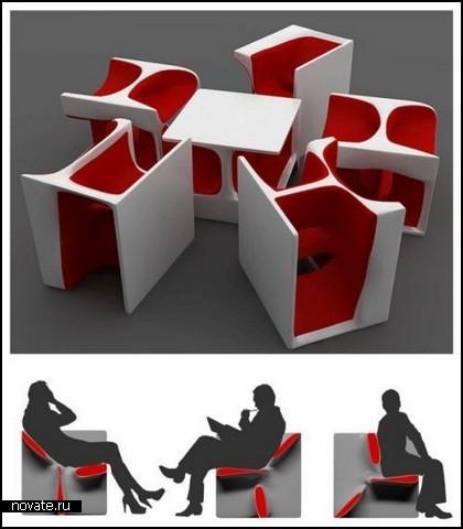 Пять стульев в одном. Проект Cubba Bubba Chairs