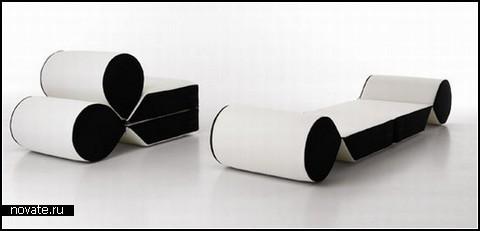 Многофункциональный диван-*капелька* от Леонардо Перуджи (Leonardo Perugi)
