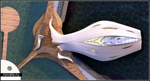 Проект плавающего павильона Fluid для проведения World Expo 2012