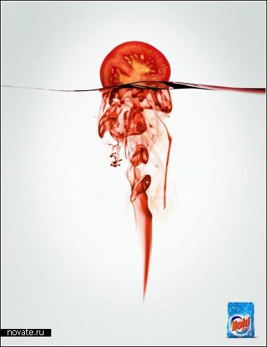 Креативная реклама стирального порошка