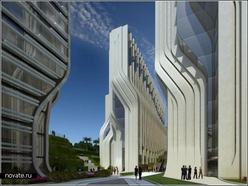 Комплекс архитектурных сооружений The Stone Towers в Каире (Египет). Проект Захи Хадид (Zaha Hadid)