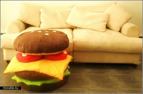 Набор фастфудовских подушек Hamburger Scatter Cushions