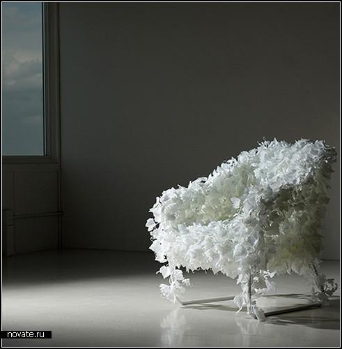 Ivy Chair: стул из искусственного плюща