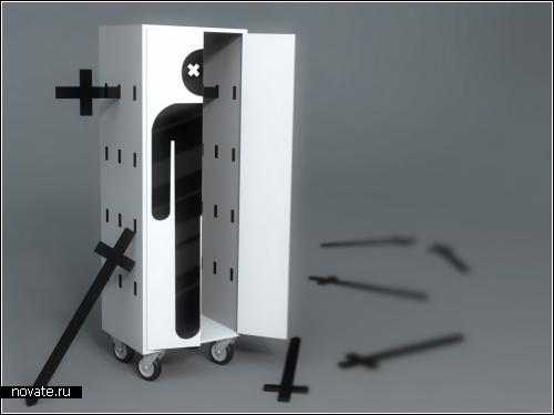 Концептуальный *шкаф-убийца* от дизайнера Рафаэля Моргана (Rafael Morgan)